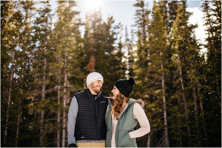 Rocky Mountain National Park Photographers | Winter Engagement Session